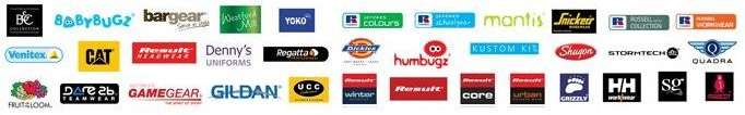 Embroidered sportswear brands available from Royale Leisurewear
